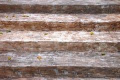 Escalera de madera vieja Foto de archivo libre de regalías
