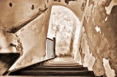 Escalera de madera vieja Fotos de archivo libres de regalías