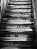 Escalera de madera vieja Imagen de archivo