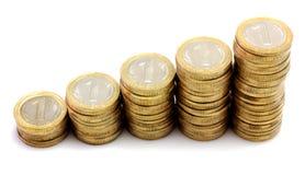 Escalera de monedas Foto de archivo libre de regalías