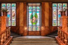 Escalera de Nouveau del arte Imagen de archivo libre de regalías