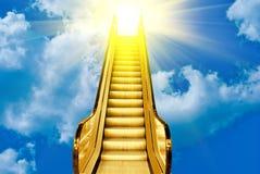 Escalera de oro foto de archivo