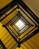 Escalera de oro Foto de archivo libre de regalías