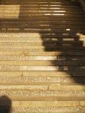 Escalera de piedra ancha Foto de archivo libre de regalías