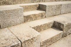 Escalera de piedra rústica Foto de archivo