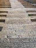 Escalera de piedra vieja Fotos de archivo