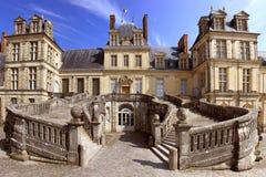 Escalera de un castillo Fotos de archivo