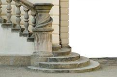 Escalera de un castillo en Praga Aislado Fotografía de archivo libre de regalías