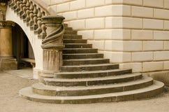 Escalera de un castillo en Praga, República Checa Imagen de archivo