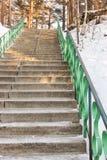 Escalera de una piedra Imagenes de archivo