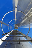 Escalera del acero inoxidable Imagen de archivo