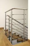 Escalera del acero inoxidable Foto de archivo