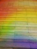 Escalera del arco iris al cielo Imagenes de archivo