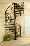 Escalera del caracol del hierro Fotografía de archivo libre de regalías