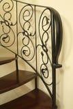 Escalera del caracol del hierro Imagenes de archivo
