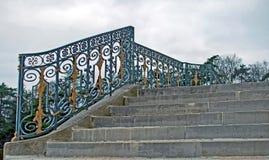 Escalera del castillo Imagenes de archivo