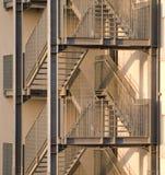 Escalera del escape de fuego Imagen de archivo libre de regalías