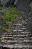 Escalera del granito Imágenes de archivo libres de regalías