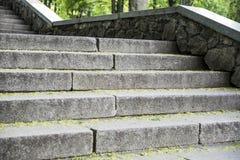 Escalera del hormigón de la escalera Fotografía de archivo libre de regalías