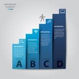 Escalera del Infographic-vector del éxito Fotografía de archivo libre de regalías