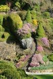 Escalera del jardín Fotografía de archivo libre de regalías