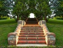 Escalera del ladrillo Fotos de archivo