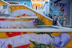Escalera del lugar de Jartum en Auckland - Nueva Zelanda Fotos de archivo