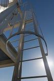 Escalera del metal Imagenes de archivo