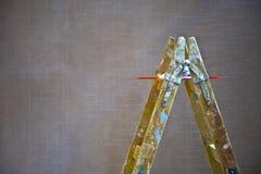 Escalera del pintor Imagenes de archivo