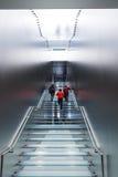 Escalera del vidrio de Apple Store Foto de archivo