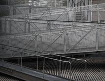 Escalera del zigzag Fotografía de archivo libre de regalías