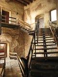 Escalera dentro del castillo Imagen de archivo libre de regalías