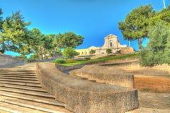 Escalera en Cagliari Foto de archivo