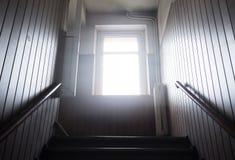 Escalera en casa vieja Fotografía de archivo