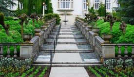 Escalera en castillo del hatley Fotografía de archivo