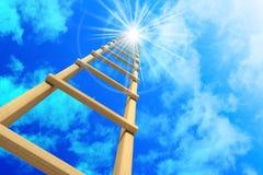 Escalera en cielo ilustración del vector