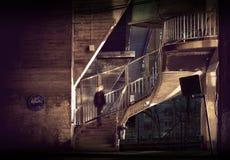 Escalera en de la corrida área abajo Fotografía de archivo