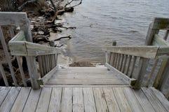 Escalera en el agua Fotografía de archivo