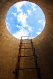 Escalera en el cielo Foto de archivo libre de regalías