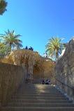 Escalera en el parque Guell, Barcelona Fotografía de archivo libre de regalías