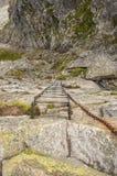 Escalera en el rastro Foto de archivo