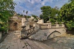 Escalera en el soporte Mithridates Kerch, Crimea Foto de archivo