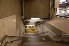 Escalera en el transporte de Tokio Fotos de archivo