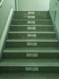 Escalera en fábrica Imagen de archivo libre de regalías