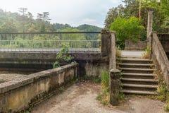 Escalera en Green Park abandonado fotografía de archivo libre de regalías