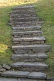 Escalera en hierba Imagen de archivo libre de regalías