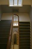 Escalera en High School secundaria vieja Imagenes de archivo