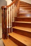 Escalera en hogar de la nueva construcción Foto de archivo libre de regalías