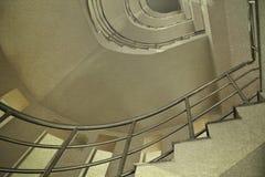 Escalera en hotel del edificio Fotos de archivo