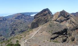 Escalera en la montaña Foto de archivo